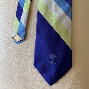 Tommy Bahama Silk Tie Stripe w/Palm Tree